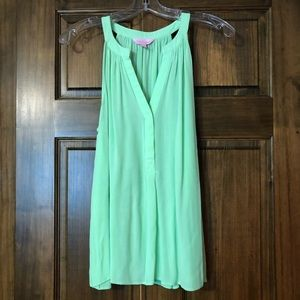 Lilly Pulitzer bright mint green top. EUC Large